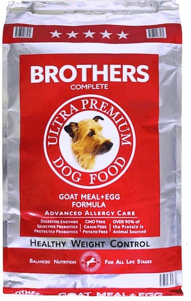 brothers complete allergy care dog food