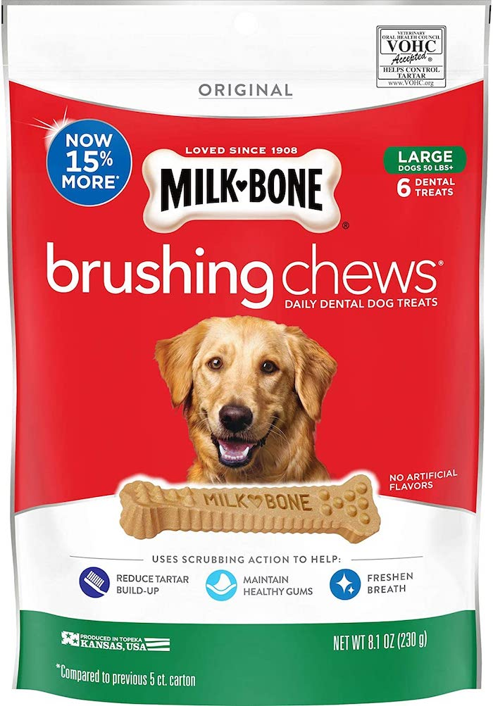 milkbone dental brushing chews review
