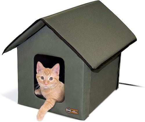 kh outdoor cat house heated