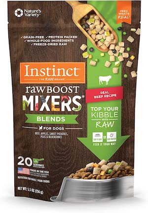 instinct rawboost freeze dried dog food