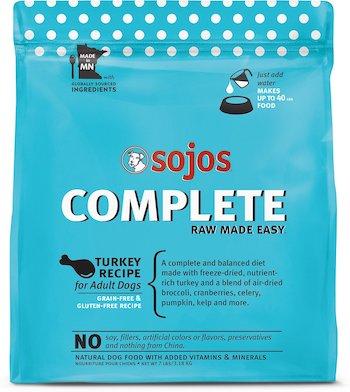 sojos complete turkey freeze dried dog food
