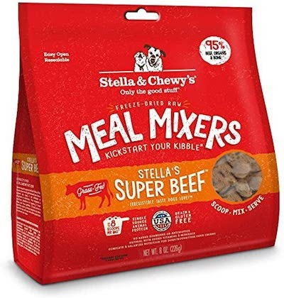 stella and chewy's raw beef freeze dried dog food