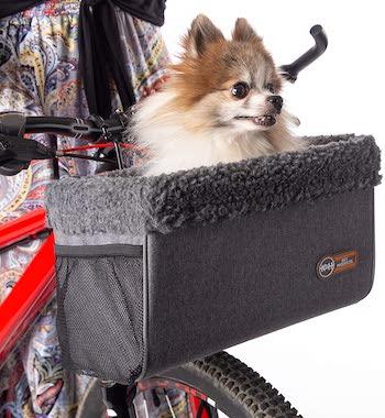 k&h dog bike basket