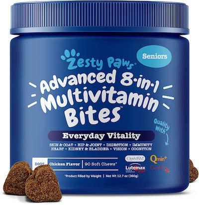 zesty paws senior dog multivitamin