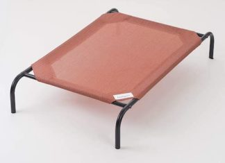 coolaroo red elevated dog bed