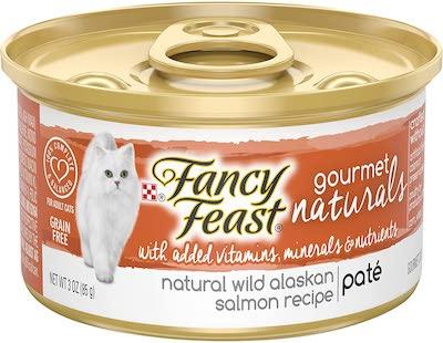fancy feast salmon wet cat food