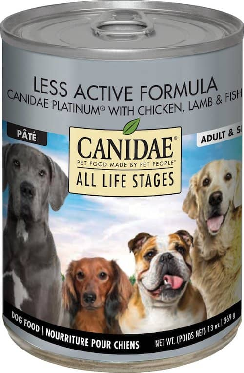 canidae platinum formula canned dog food
