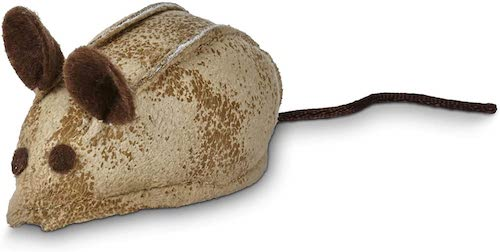 faux leather mouse cat toy