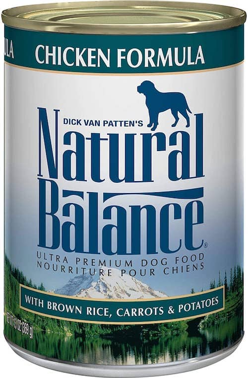 natural balance chicken dog food can