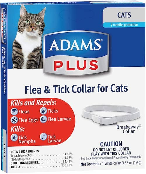 adams plus cat flea collar