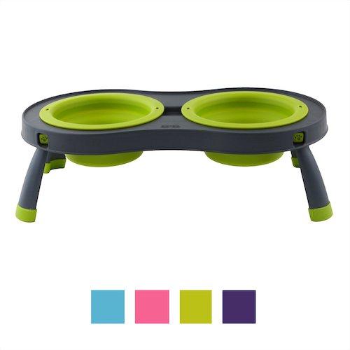 dexas popware portable elevated dog bowl