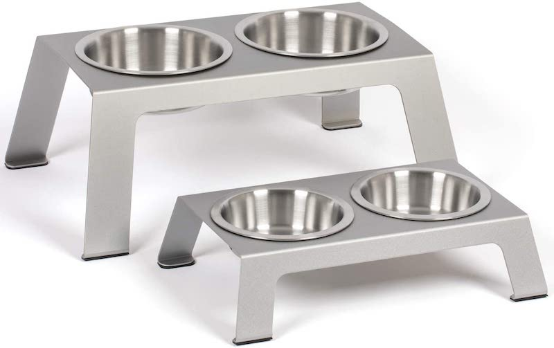 stainless steel elevated dog bowl