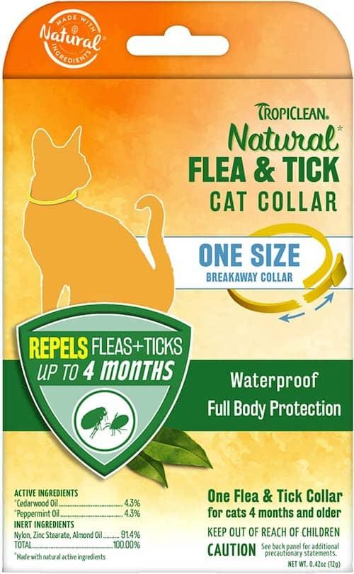 tropiclean natural cat flea collar