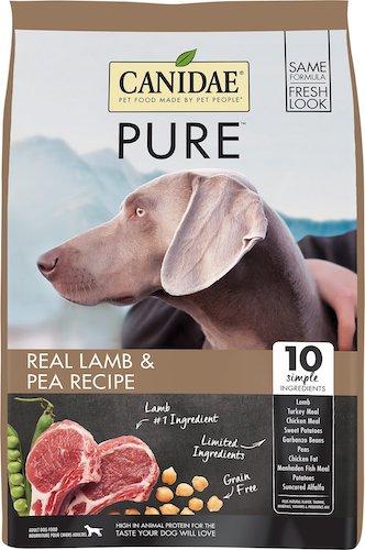 canidae pure lamb and pea dog food
