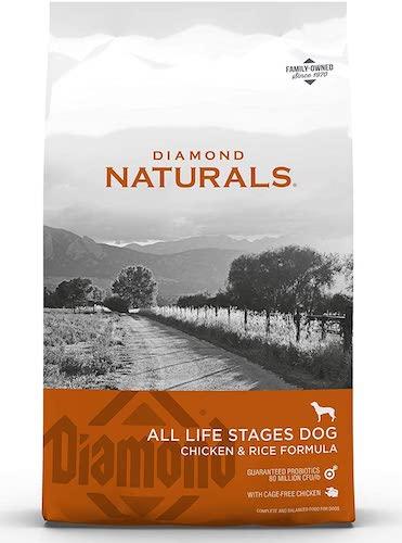 diamond naturals chicken and rice formula dog food