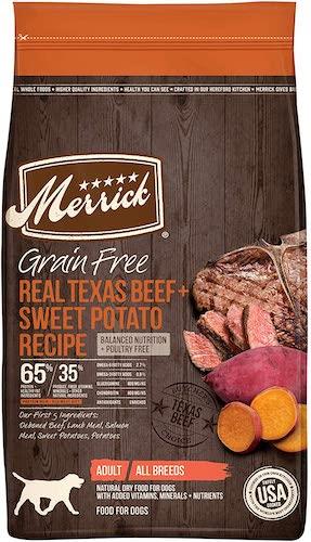 merrick grain free beef and sweet potato dog food
