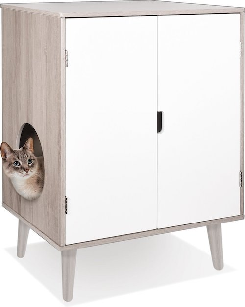 contemporary style litter box furniture