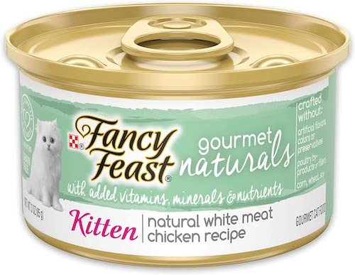 fancy feast gourmet naturals wet kitten food
