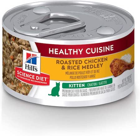 hills science healthy cuisine canned kitten food