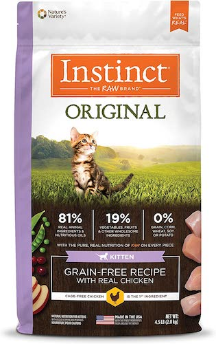instinct original grain free dry kitten food
