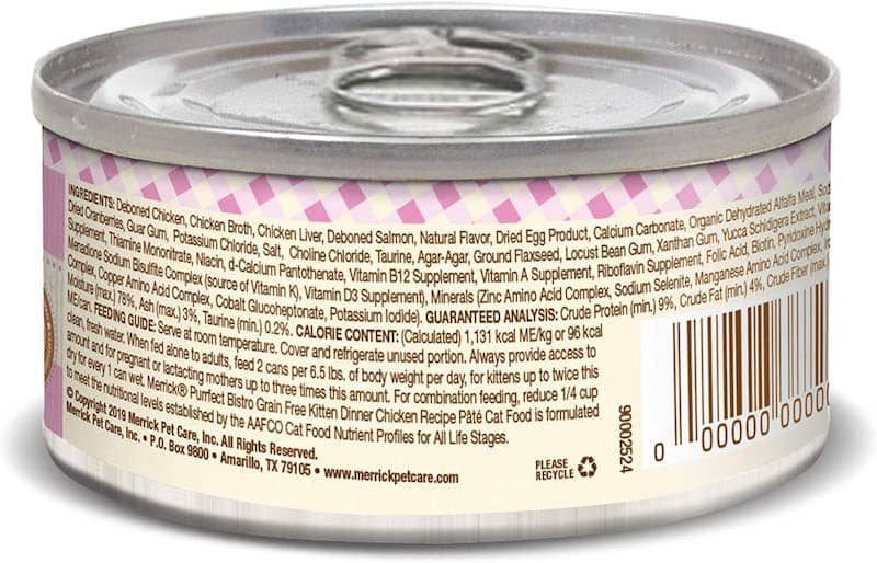 back of canned kitten food