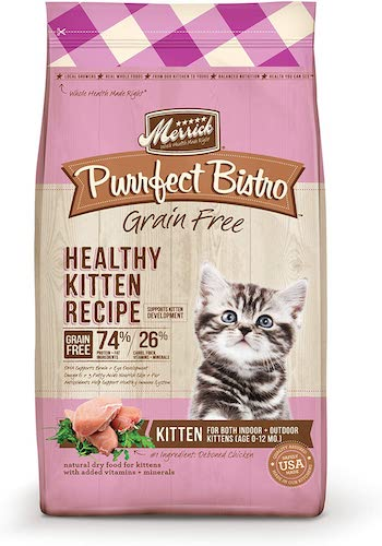 merrick purrfect bistro dry kitten food