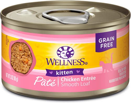 wellness complete chicken kitten food