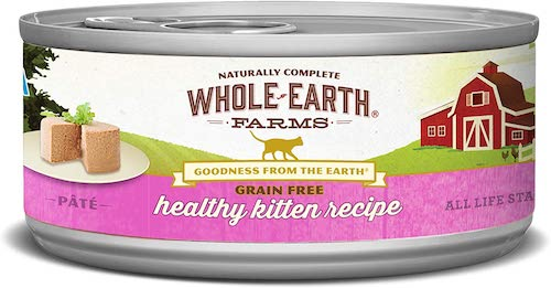 whole earth farmed canned kitten food