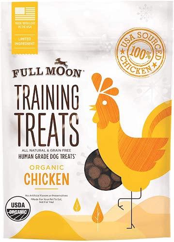 full moon dog training treats